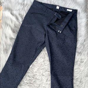 GAP 14R skinny ankle brocade pants NWOT